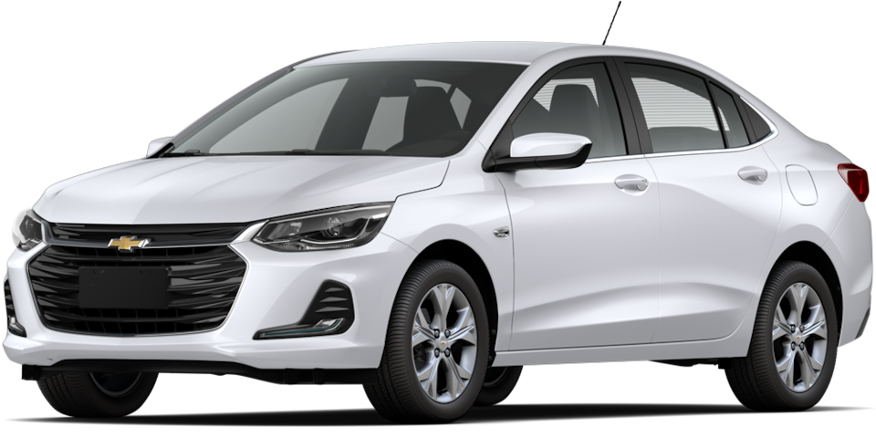 Chevrolet Onix 2021, carro sedán en color blanco